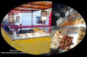 Le stand de Fred : accras, falafels, samoussas, nems,...